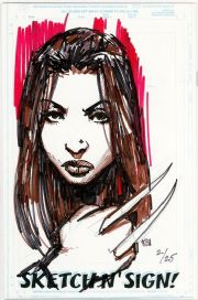 Call Of Duty #1 Jay Company Originals Sketch N Sign Keu Cha Remarked X-23 COA #2